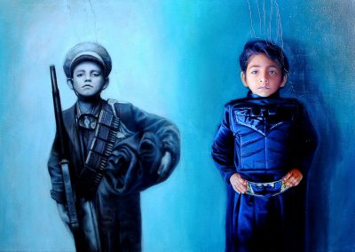 Cien años después, óleo sobre tela, 162 x 114 cm, 2010