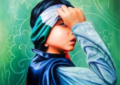 Despertando,óleo sobre tela, 80 x 100 cm, 2010