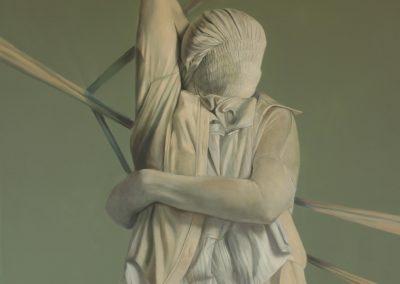 Distensión, óleo y acrílico sobre tela,180 x 150 cm, 2015