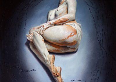 El último éxtasis, acrílico sobre tela, 60 x 70 cm, 2015