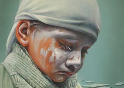 Inocencia trastocada, óleo sobre tela, 50 x 60 cm, 2016