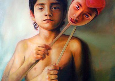Máscaras, óleo sobre tela, 80 x 100 cm, 2010
