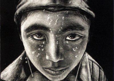 Mi sueño desollado, litografía, 56 x 38 cm, 2010