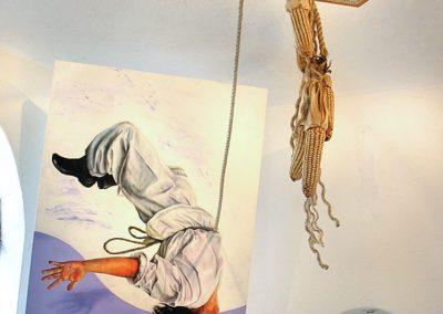 Norte, lugar de la lluvia (instalación, pintura, dibujo), técnica mixta, módulo de 122 cm x 200 cm, 2007