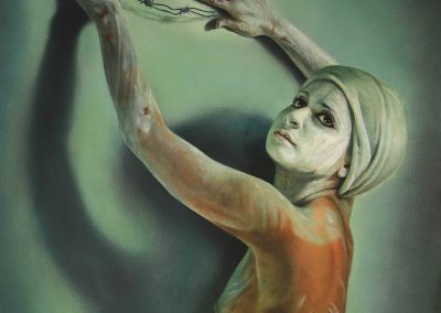 Redención, acrílico sobre tela, 60 x 70 cm, 2015