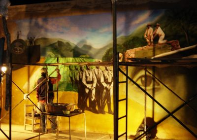 1 Proceso de trabajo del mural en Plan de las Hayas, 2006