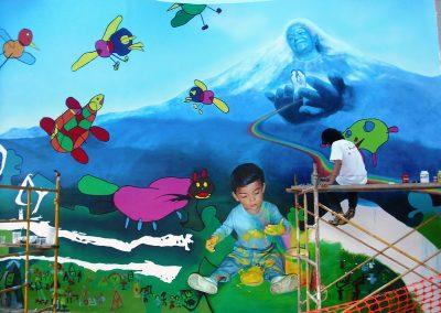 3 Realización del mural Espejo de colores