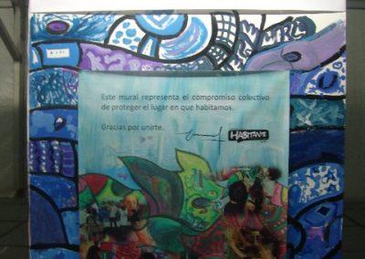 Esperanza climática, mural colectivo creado en la COP 16 de Cancún, Quintana Roo 13