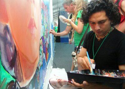 Esperanza climática, mural colectivo creado en la COP 16 de Cancún, Quintana Roo 15