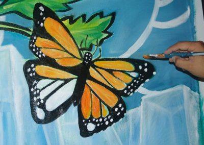 Esperanza climática, mural colectivo creado en la COP 16 de Cancún, Quintana Roo 21