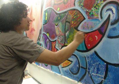 Esperanza climática, mural colectivo creado en la COP 16 de Cancún, Quintana Roo 4
