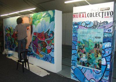 Esperanza climática, mural colectivo creado en la COP 16 de Cancún, Quintana Roo
