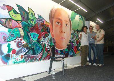 Esperanza climática, mural colectivo creado en la COP 16 de Cancún, Quintana Roo 8
