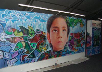 Esperanza climática, mural colectivo creado en la COP 16 de Cancún, Quintana Roo 9