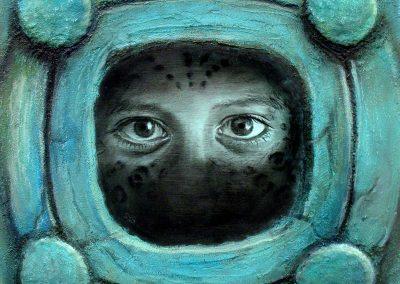 Aire-espíritu, técnica mixta, 50 x 50 cm, 2007