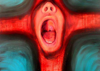 Cruz parlante, óleo sobre tela, 80 x 130cm 2007