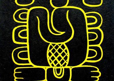 Kan xib chaac (sur-amarillo), acrílico sobre madera, 50 x 50 cm, 2007