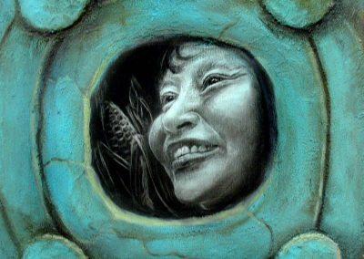 Tierra-cuerpo, técnica mixta, 50 x 50 cm, 2007