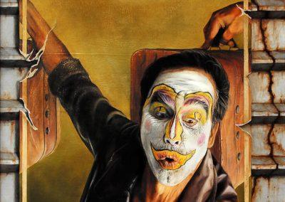 Todo es ilussio, óleo sobre madera, 70 x 122 cm, 2005