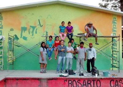 001 Mural Telesecundaria Rosario Castellanos, Veracruz, Veracruz, 2014