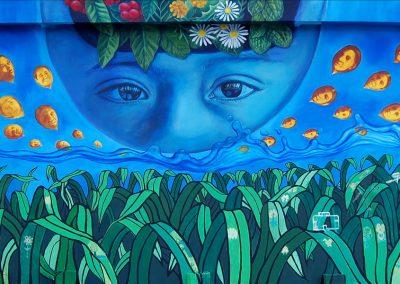 001 Mural colectivo La mano vuelta a la salud, Filomeno Mata, Veracruz