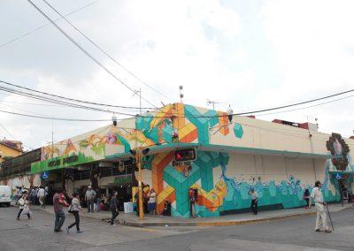 001 Padre Mercado, Madre de siglos, intervención artística en el Mercado Jáureguim Xalapa, Veracruz