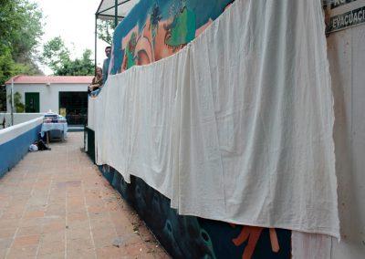 001 Viaje de sexto, mural colectivo, Colegio Nuestro Mundo, Xalapa, Veracruz, 2014