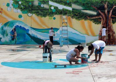 002 Raíces somos, mural colectivo, Acapulco,Guerrero, 2014