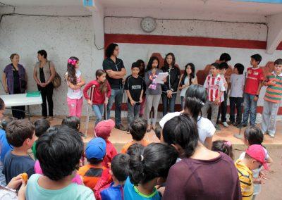 002 Viaje de sexto, mural colectivo, Colegio Nuestro Mundo, Xalapa, Veracruz, 2014