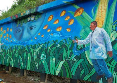 003 Mural colectivo La mano vuelta a la salud, Filomeno Mata, Veracruz