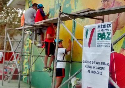 004 Mural Telesecundaria Rosario Castellanos, Veracruz, Veracruz, 2014