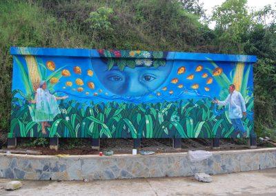 004 Mural colectivo La mano vuelta a la salud, Filomeno Mata, Veracruz