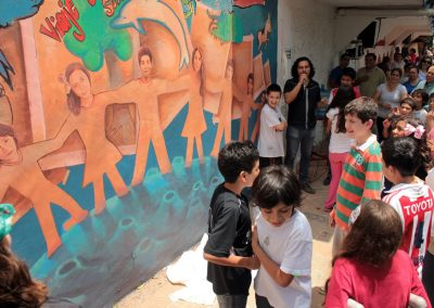 004 Viaje de sexto, mural colectivo, Colegio Nuestro Mundo, Xalapa, Veracruz, 2014