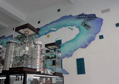 005 Manantial de historias, acrílico y carbon sobre muro, Plaza Real, Xalapa, Veracruz