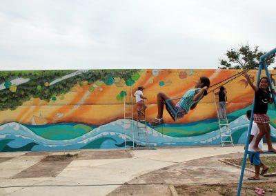 005 Raíces somos, mural colectivo, Acapulco,Guerrero, 2014