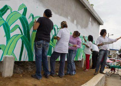 006 Mural colectivo La mano vuelta a la salud, Filomeno Mata, Veracruz