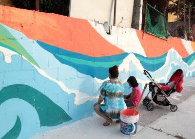 006 Raíces somos, mural colectivo, Acapulco,Guerrero, 2014