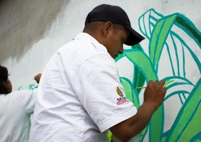 007 Mural colectivo La mano vuelta a la salud, Filomeno Mata, Veracruz