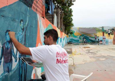 007 Raíces somos, mural colectivo, Acapulco,Guerrero, 2014
