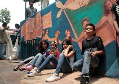 007 Viaje de sexto, mural colectivo, Colegio Nuestro Mundo, Xalapa, Veracruz, 2014