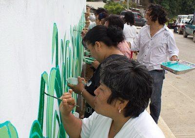 008 Mural colectivo La mano vuelta a la salud, Filomeno Mata, Veracruz