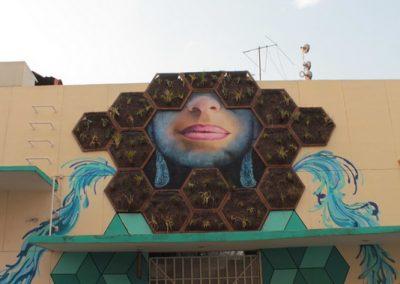 008 Padre Mercado, Madre de siglos, intervención artística en el Mercado Jáureguim Xalapa, Veracruz