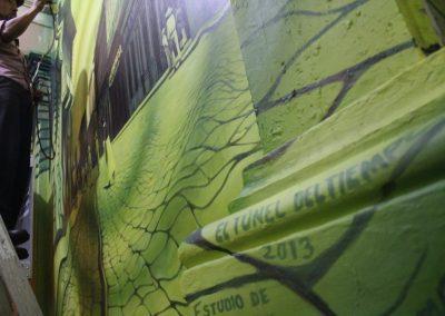 008 Túnel del tiempo, Acrílico sobre muro, Edificio Enríquez, Xalapa, Veracruz
