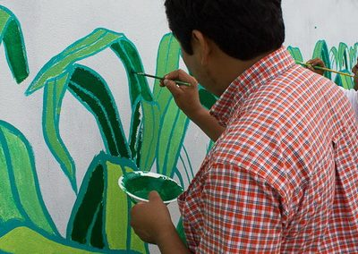 009 Mural colectivo La mano vuelta a la salud, Filomeno Mata, Veracruz