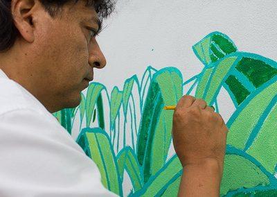 010 Mural colectivo La mano vuelta a la salud, Filomeno Mata, Veracruz