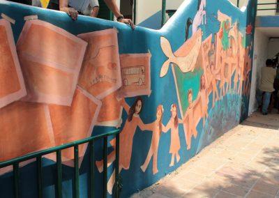 010 Viaje de sexto, mural colectivo, Colegio Nuestro Mundo, Xalapa, Veracruz, 2014
