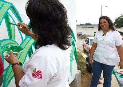 011 Mural colectivo La mano vuelta a la salud, Filomeno Mata, Veracruz