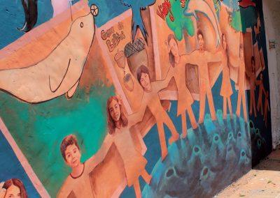 011 Viaje de sexto, mural colectivo, Colegio Nuestro Mundo, Xalapa, Veracruz, 2014