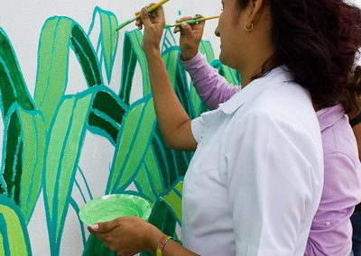 012 Mural colectivo La mano vuelta a la salud, Filomeno Mata, Veracruz