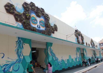 012 Padre Mercado, Madre de siglos, intervención artística en el Mercado Jáureguim Xalapa, Veracruz